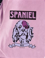 Personalised Pink Spaniel Dog Bed And Blanket