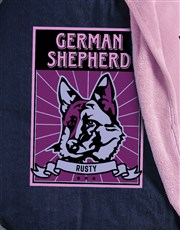Personalised Pink German Shepherd Bed And Blanket