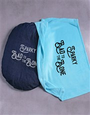Personalised Bad To The Bone Dog Bed And Blanket