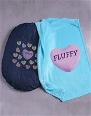 Personalised Sweet Dog Bed And Blanket