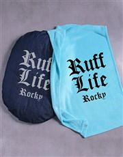 Personalised Ruff Life Dog Bed And Blanket