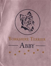 Personalised Yorkie Dog Bed And Blanket