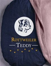 Personalised Rottweiler Bed And Blanket