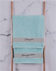 Personalised Love You Duck Egg Towel Set