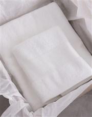 Personalised Coastal White Towel Set