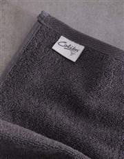 Personalised Leaf Foilage Charcoal Towel Set