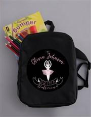 Personalised Ballerina Kids Backpack