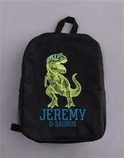 Personalised Trex Boys Backpack