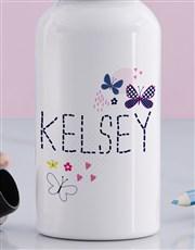 Personalised Butterfly Girls Bottle