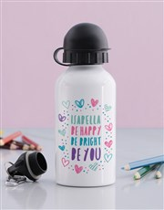 Personalised Happy Heart Girls Bottle