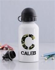 Personalised Camo Boys Bottle
