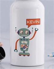 Personalised Robot Boys Bottle