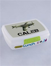 Personalised Fighter Plane Boys Lunch Box