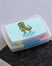 Personalised Trex Boys Lunch Box