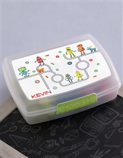 Personalised Robot Boys Lunch Box