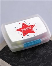 Personalised Star Kids Lunch Box