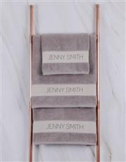 Personalised Modern Name Stone Towel Set