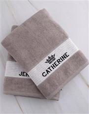 Personalised Royal Stone Towel Set