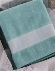 Personalised Royal Duck Egg Towel Set