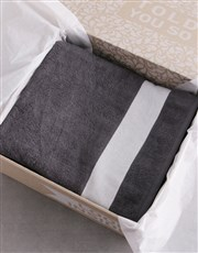 Personalised Husband and Wife Charcoal Towel Set
