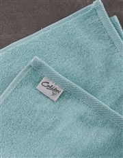 Personalised Mr and Mrs Right Duck Egg Towel Set
