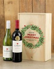 Personalised Christmas La Motte Printed Crate