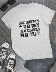 Personalised Real Grandpas Play Golf Shirt
