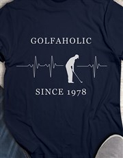Personalised Golfaholic Shirt