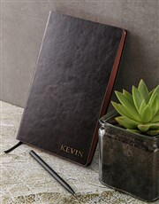 Personalised Name Gilded Notebook