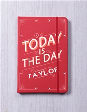 Personalised Today A5 Notebook