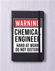 Personalised Warning A5 Notebook