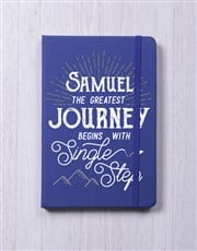 Personalised Journey A5 Notebook