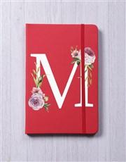 Personalised Rose Initial Notebook