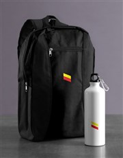 Personalised Racing Stripe Backpack & Waterbottle