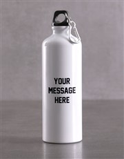Personalised Message Backpack & Waterbottle