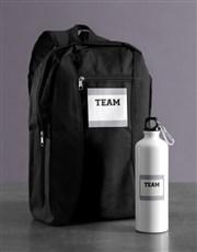Personalised Team Backpack & Waterbottle