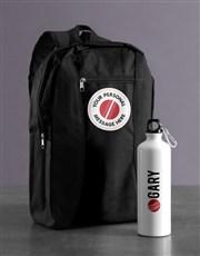 Personalised Cricket Backpack & Waterbottle