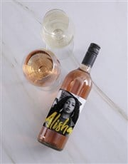 Personalised Vogue Photo Wine