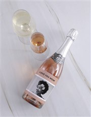 Personalised Vintage Pink Photo Wine