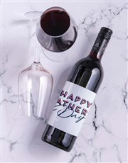 Personalised Happy Fathers Day Wine In Crate