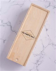 Personalised Fathers Day Wine In Crate