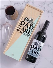 Personalised Classic Dad Wine In Crate