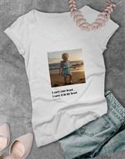 Personalised Photo Quote Ladies T-Shirt