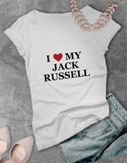 Personalised I Love My Ladies T Shirt