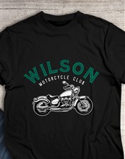 Personalised Authentic Motorcycle T Shirt