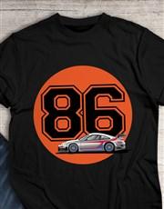 Personalised Year Race Car T Shirt