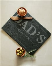 Personalised Dads Kitchen Slate Board