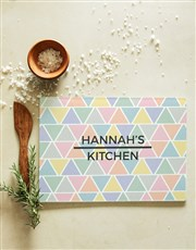 Personalised Patterned Glass Chopping Board