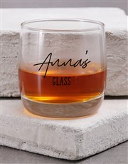 Personalised Chosey Moms Whiskey Glass