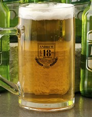 Personalised Happy 18th Beer Mug